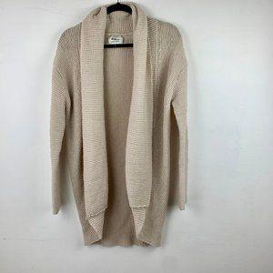 Cotton On Cream Knit Open Cardigan Sweater